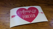 Valentines Box Frame Decal - Always Ans Forever